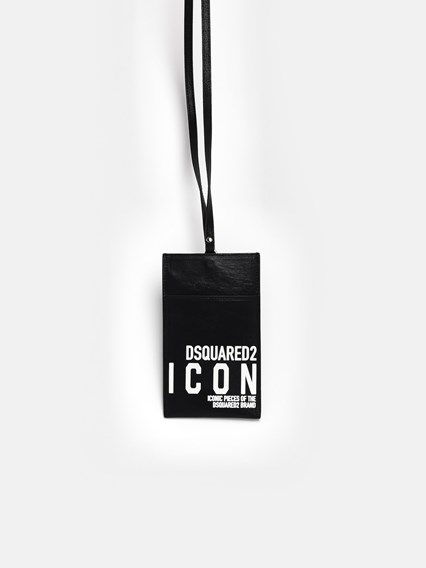 DSQUARED2 BLACK ICON PHONE HOLDER - COD. POM0012 12902618     M063