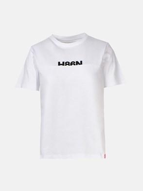 HOGAN - T-SHIRT LOGO BIANCA