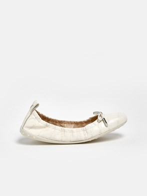 TOD'S - BALLERINE COCCO BIANCHE