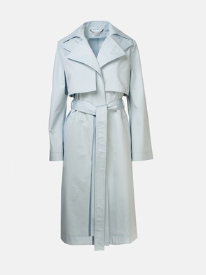 STELLA McCARTNEY - LIGHT BLUE TRENCH COAT