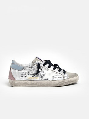 GOLDEN GOOSE DELUXE BRAND - SNEAKERS STAMPA COCCO ARGENTO