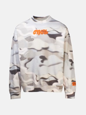 HERON PRESTON - FELPA CAMO MULTICOLORE