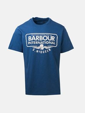 BARBOUR - T-SHIRT LOGO BLU