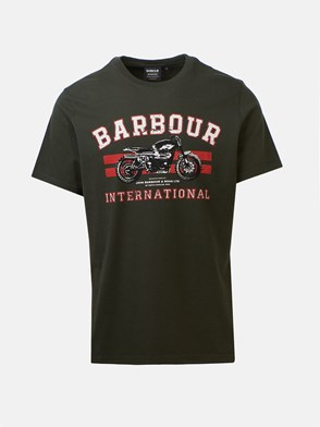 BARBOUR - T-SHIRT STAMPA VERDE