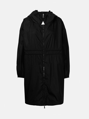 MONCLER - BLACK LICHEN TRENCH COAT