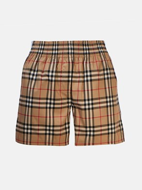BURBERRY - AUDREY CHECK SHORTS