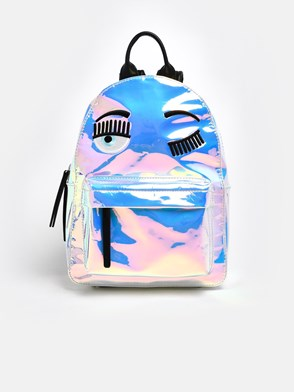 CHIARA FERRAGNI - SILVER HOLOGRAM FLIRTING BACKPACK