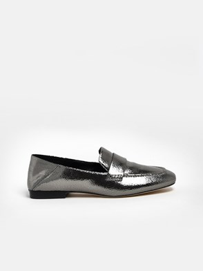 MICHAEL MICHAEL KORS - SILVER EMERY LOAFERS
