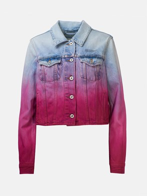 OFF-WHITE - FUCHSIA AND LIGHT BLUE SHADED BLAZER