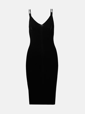 OFF WHITE - BLACK INDUSTRIAL KNIT DRESS