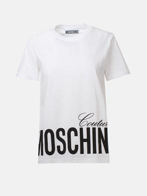 MOSCHINO - T-SHIRT LOGO BIANCA