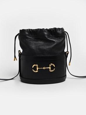 GUCCI - BLACK 1955 HORSEBIT BUCKLE BAG