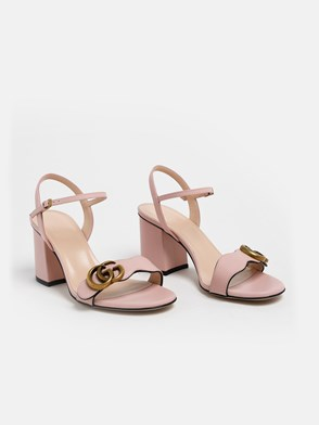 GUCCI - PINK GG MARMONT SANDALS
