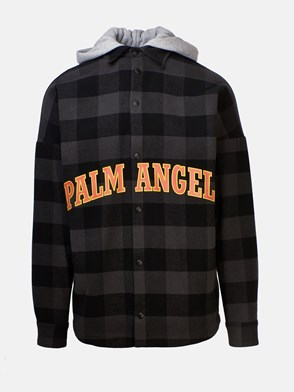 PALM ANGELS - GREY AND BLACK COLLEGE SHIRT
