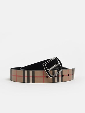 BURBERRY - CINTURA MB GRAY CHECK