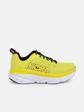 HOKA ONE ONE - YELLOW BONDI 6 SNEAKERS