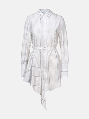 OFF WHITE - WHITE POPLIN DRESS