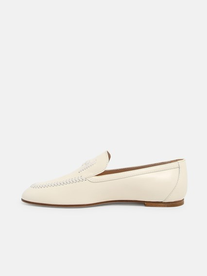 TOD'S WHITE LOAFERS - COD. XXW79A0CO30GOC       C016