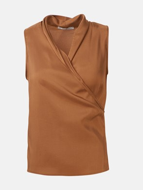 MAX MARA - BROWN ELCE TOP