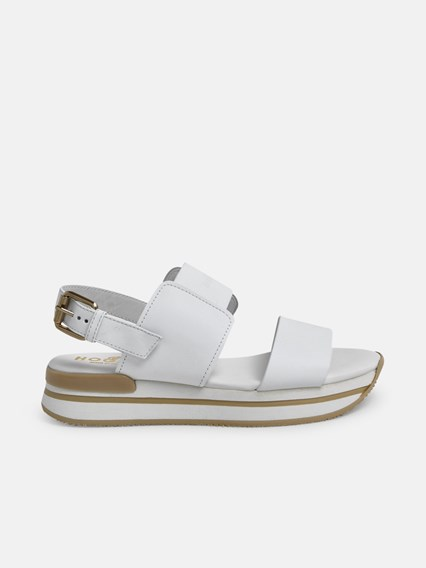 hogan WHITE H257 SANDALS available on www.lungolivignofashion.com ...