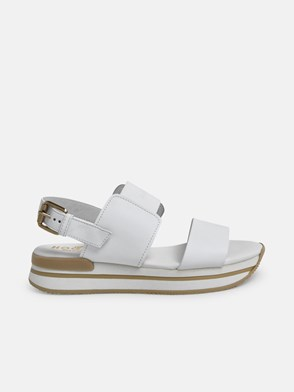 HOGAN - WHITE H257 SANDALS