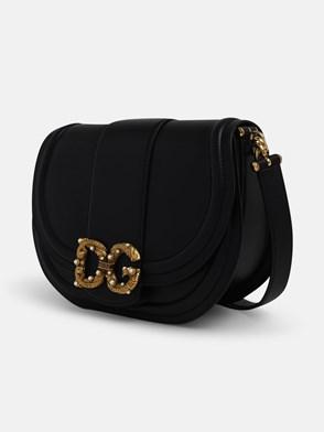 DOLCE & GABBANA - BLACK MESSENGER CROSSBODY BAG