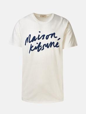 MAISON KITSUNE' - WHITE HANDWRITING T-SHIRT