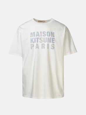 MAISON KITSUNE' - WHITE HOLOGRAM T-SHIRT