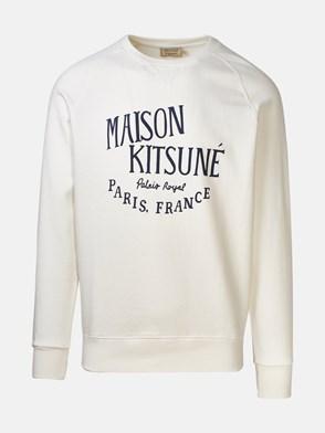 MAISON KITSUNE' - WHITE PALAIS ROYAL SWEATSHIRT