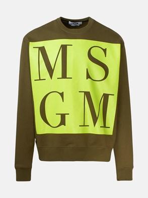 MSGM - GREEN MAXI LOGO SWEATSHIRT