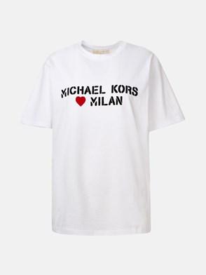 MICHAEL MICHAEL KORS - WHITE MK LOVE MILAN T-SHIRT