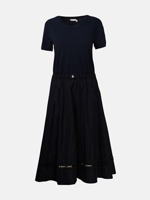 MONCLER - BLUE TRICOT DRESS