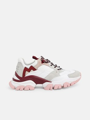 MONCLER - WHITE AND PINK LEAVE NO TRACE SNEAKERS