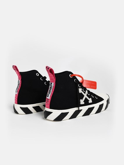 off white BLACK MID TOP SNEAKERS
