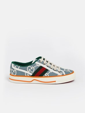 GUCCI - LIGHE BLUE GG WEB SNEAKERS