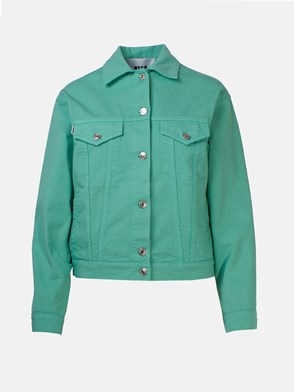 MSGM - TURQUOISE GREEN DENIM JACKET