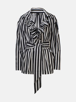 PINKO - BLACK AND WHITE STRIPED DONUTS SHIRT