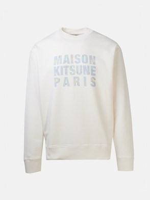 MAISON KITSUNE' - WHITE HOLOGRAM SWEATSHIRT
