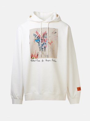 HERON PRESTON - WHITE ROBERT NAVA SWEATSHIRT