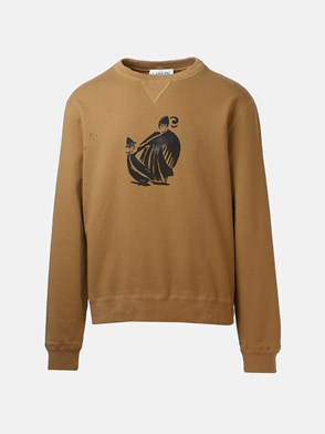 LANVIN - BEIGE MOTHER AND DAUGHTER SWEATSHIRT