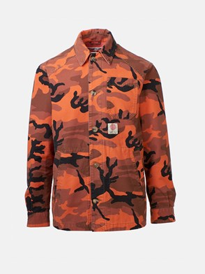 McQ BY ALEXANDER MCQUEEN - GIACCA MARSHALL CAMOUFLAGE ARANCIONE