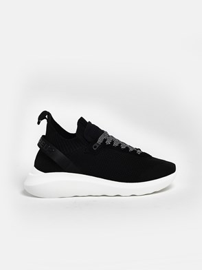 DSQUARED2 - BLACK JERSEY SNEAKERS