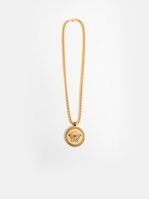 VERSACE - GOLD CHARM NECKLACE