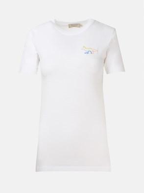 MAISON KITSUNE' - WHITE T-SHIRT
