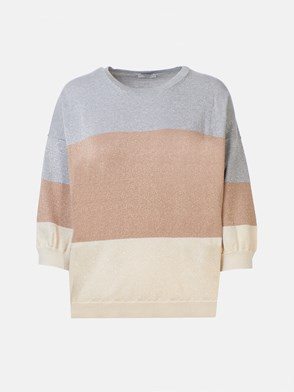 Peserico - GREY, BROWN AND BEIGE SWEATER