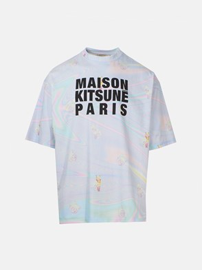 MAISON KITSUNE' - MULTICOLOR OVERSIZE T-SHIRT