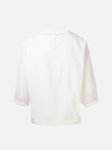 PESERICO WHITE SWEATER - COD. S06582 6086A         03A