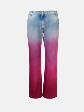 OFF WHITE - JEANS DEGRADE FUCSIA
