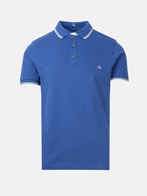 FAY - BLUE POLO SHIRT