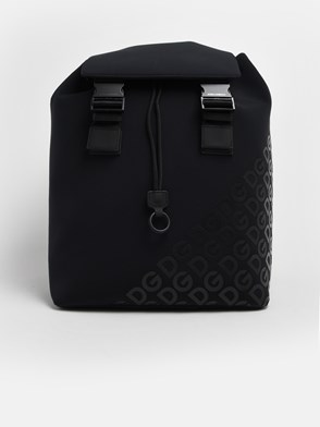 DOLCE & GABBANA - BLACK LOGOMANIA BACKPACK